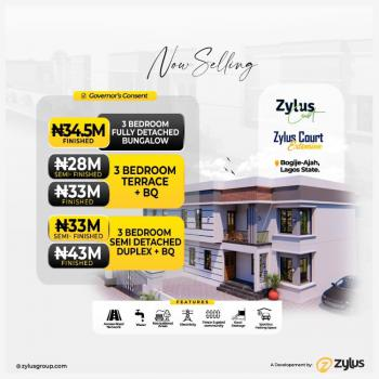 Lovely 3 Bedroom Fully Detached Bungalow, Zylus Court Extensions, Bogije, Ibeju Lekki, Lagos, Detached Bungalow for Sale