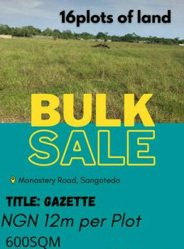 Plots of Land with Good Title, Off Monastery Road, Sangotedo, Ajah, Lagos, Residential Land for Sale