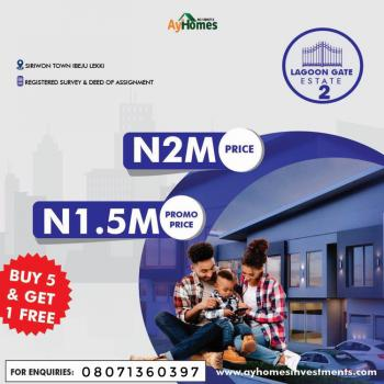 Estate Facing The Lagos Lagoon Selling on Promo, Siriwon Town, Ibeju Lekki, Lagos, Siriwon Town, Ibeju Lekki, Lagos, Mixed-use Land for Sale