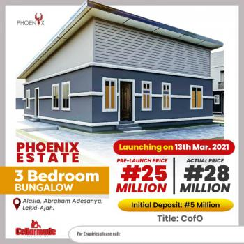 10 Units of Luxurious 3 Bedroom Bungalow in a Beautiful Estate, The Phoenix Estate, Alasia, Abraham Adesanya, Ajah, Lagos, Terraced Bungalow for Sale