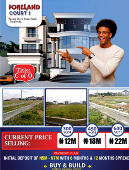 Buy and Build Estate with a Cof O Title, Thera Annex, Sangotedo, Ajah, Lagos, Land for Sale