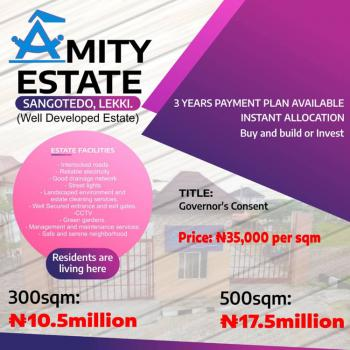 a Lovely Neighbourhood Estate Located in a Developed Area, Amity  Estate, Abijo, Lekki, Lagos, Residential Land for Sale