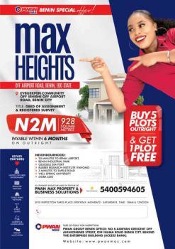 Plots of Land, Max Height Estate Evbuekpen Comm Off Irhirhi Off Airport Road, Benin, Oredo, Edo, Mixed-use Land for Sale