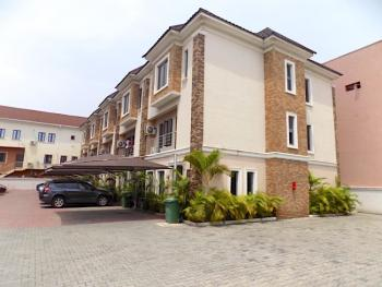 Clean 4 Bedrooms Terraced Duplex with Bq + Ac + 24 Hours Electricity, Ikate, Lekki, Lagos, Terraced Duplex for Rent