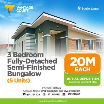 3 Bedroom Fully Detached Bungalow, Vantage Court, Richland Gardens, Bogije, Ibeju Lekki, Lagos, Terraced Bungalow for Sale