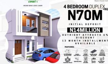 Beautiful 4 Bedroom Duplex + Bq, Orchid Road, Victory Star Court 1 Estate, Lekki Phase 2, Lekki, Lagos, Detached Duplex for Sale