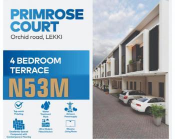 Beautiful 4 Bedroom Terrace, Orchid Road Lekki, Primrose Court, Lekki Phase 2, Lekki, Lagos, Terraced Duplex for Sale