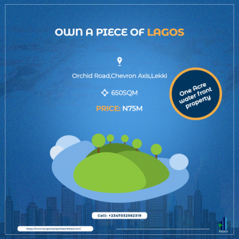 One Acre Amazing Water Front Property, Orchid Road, Chevron Axis, Lekki Phase 2, Lekki, Lagos, Mixed-use Land for Sale