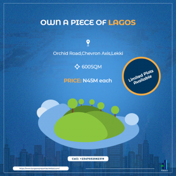 Limited Plots of Land, Orchid, Chevron Axis, Lekki Phase 2, Lekki, Lagos, Mixed-use Land for Sale