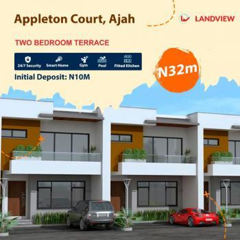 2 Bedroom Terraced Duplex, Appleton Court Beside Royal Garden Before Abraham Adesanya, Ajah, Lagos, Terraced Duplex for Sale