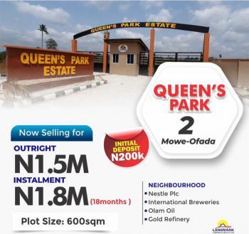 Land, Queens Park, Mowe Ofada, Ogun, Residential Land for Sale
