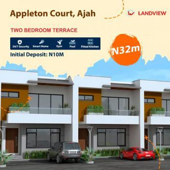 Fully Finished 2 Bedroom Terrace Duplex in Good Location, Appleton Court, Beside Royal Garden City Estate, Ajah, Lagos, Terraced Duplex for Sale