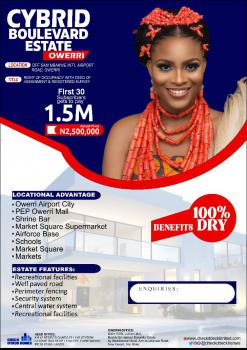 Well Located Dry Plots of Land, Cybrid Boulevard Estate, Along Sam Mbakwe International Airport Road, Owerri Municipal, Imo, Residential Land for Sale
