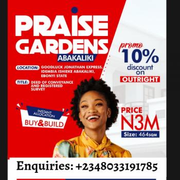 Introducing Land, Idembia Ishieke Praise Gardens Estate, Abakaliki, Ebonyi, Mixed-use Land for Sale