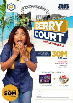 Premium Serviced Plots, Berry Court, Omole Phase 2, Ikeja, Lagos, Residential Land for Sale