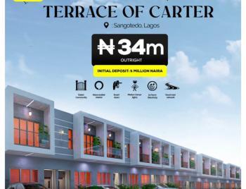 Own a Smart 2 Bedroom Duplex with an Initial Deposit, Fara Park, Sangotedo, Ajah, Lagos, Terraced Duplex for Sale