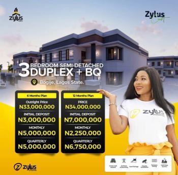 Luxury 3 Bedroom Semi-detach Duplex +bq, Bogije, Ibeju Lekki, Lagos, Semi-detached Duplex for Sale