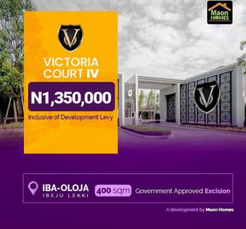 Victoria Court Iv Trinity I, Iba-oloja, Ibeju, Lagos, Residential Land for Sale