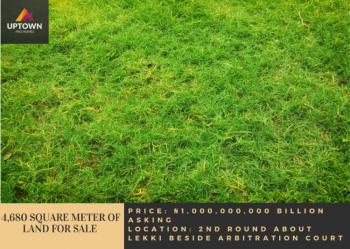 4,680 Square Meter of Land, 2nd Round About Lekki Beside Arbitration Court, Lekki, Lagos, Mixed-use Land for Sale