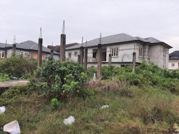 Corner Piece of Land with Solid Foundation, Peninsula Garden Estate Before Sangotedo Shop Rite, Sangotedo, Ajah, Lagos, Residential Land for Sale