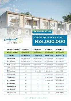 3 Bedroom Terrence Duplex with Bq, Gra  at Cambewall Phrase Ll, Abijo, Lekki, Lagos, Terraced Duplex for Sale