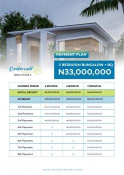3 Bedroom Detached Bungalow with Bq, Gra at Camberwall Phrase 2, Abijo, Lekki, Lagos, Detached Bungalow for Sale