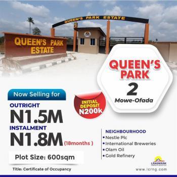 C of O Land, Queen Park Estate, Mowe Ofada, Ogun, Residential Land for Sale