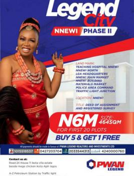 Plots of Land, Legend City, Nnewi, Anambra, Mixed-use Land for Sale