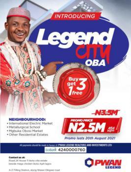 Plot of Land, Legend City, Oba Idemili South Lga, Idemili, Anambra, Residential Land for Sale