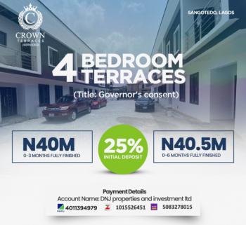 Affordable Luxury 4 Bedroom Terrace Duplex, Crown Terrace Apartments, Sangotedo, Ajah, Lagos, Semi-detached Duplex for Sale