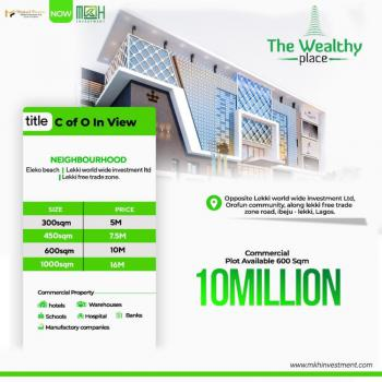 Plots of Land Available at The Wealthy Place Estate, Orofun Town, Ibeju Lekki, Lagos, Commercial Land for Sale