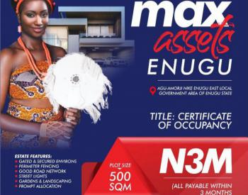 Estate Land with C of O, Near Caritas University, Emene, Enugu, Enugu, Residential Land for Sale