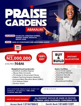 Genuine and Affordable Land, Praise Garden Idembia Ishieke Along Good Luck Jonathan Express, Abakaliki, Ebonyi, Mixed-use Land for Sale