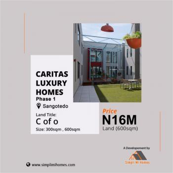 Own and Build Land in Caritas Luxury Homes with C of O., Behind Novare Shoprite., Sangotedo, Ajah, Lagos, Mixed-use Land for Sale
