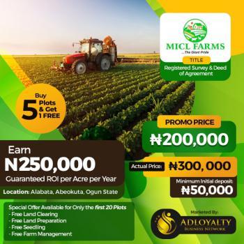 Farm Land Investment Project, Alabata, Abeokuta South, Ogun, Commercial Land for Sale
