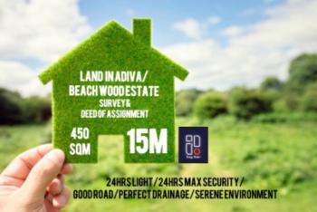 Plain Field Land with Serene Neighborhood, Adiva Estate in Beach Wood Estate, Bogije, Ibeju Lekki, Lagos, Residential Land for Sale