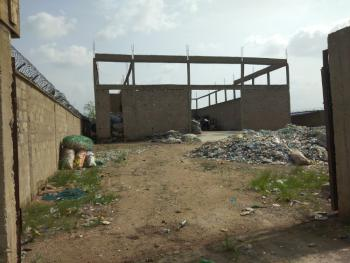 4 Plots of Land with an Uncompleted Warehouse, Offices, Store,security, Ofada Round About, Mowe Ofada, Ogun, Warehouse for Sale