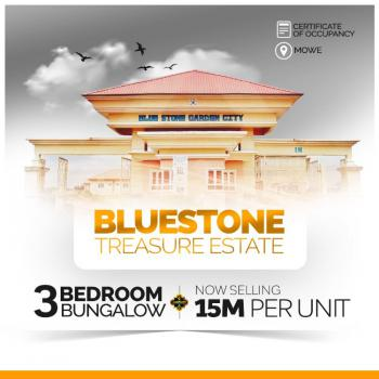 Fully Finished 3 Bedrooms Detached Bungalow, Bluestone Treasure Estate, 5 Minutes From Mowe Bus-stop, Mowe Ofada, Ogun, Detached Bungalow for Sale