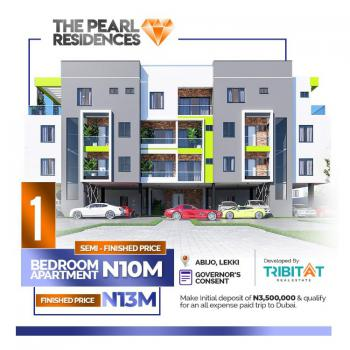1 Bedroom Luxury Apartment in Good Location with Payment Plan, Pearl Residences, 1 Minutes From The Lekki - Epe Expressway, Abijo, Lekki, Lagos, Block of Flats for Sale