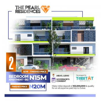 2 Bedroom Luxury Apartment with Bq in Good Location, The Pearl Residences, 1 Minute From Lekki Epe Expressway, Abijo, Lekki, Lagos, Block of Flats for Sale