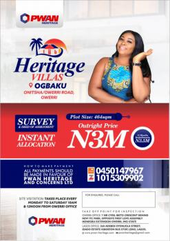 Genuine and Affordable Land Directly Facing Express, Heritage Garden, Along Onitsha - Owerri Road, Ogbaku, Mbaitoli, Imo, Residential Land for Sale