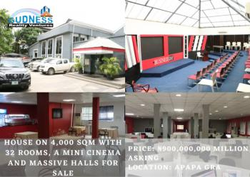 House on 4,000 Sqm with 32 Rooms, a Mini Cinema and Massive Halls, Gra, Apapa, Lagos, Commercial Property for Sale