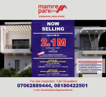 Beautifully Gated with C of O, Mamre Park, Atan Ota, Ado-odo/ota, Ogun, Land for Sale