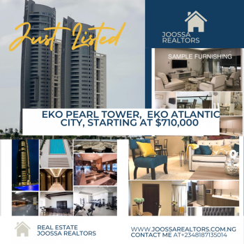 Luxury 2 Bedroom Apartment with Ocean and Marina View  No Agency Fee, Eko Atlantic City, Lagos, Flat / Apartment for Sale
