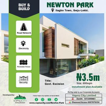 Strategically Located Dry Estate Land Near Expressway, Newton Park, 8 Minutes From Dangote Refinery, Lekki Free Trade Zone, Lekki, Lagos, Mixed-use Land for Sale