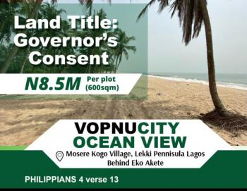 Waterfront Dry Estate Land, Vopnu City Ocean View Estate, Eko Akete, Few Minutes From Shoprite, Abijo, Lekki, Lagos, Residential Land for Sale