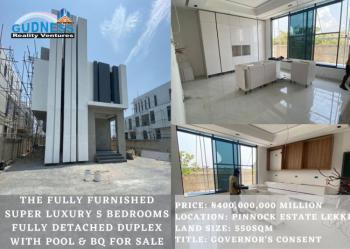 Elegantly Finished 5 Bedroom Fully Detached Duplex with Swimming Pool, Pinnock Beach Estate, Osapa, Lekki, Lagos, Detached Duplex for Sale