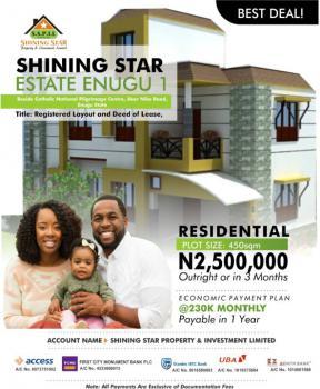 Residential Land, Shining Star Estate, Beside Catholic National Pilgrimage Centre, Enugu, Enugu, Residential Land for Sale