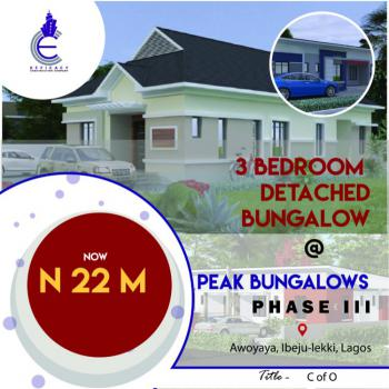 3 Bedroom Detached Bungalow in a Serene Environment, Awoyaya, Ibeju Lekki, Lagos, Detached Bungalow for Sale