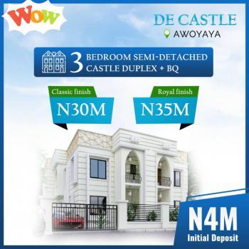 Luxury 3 Bedroom Semi Detached Duplex Castle + Bq, Awoyaya, Ibeju Lekki, Lagos, Semi-detached Duplex for Sale